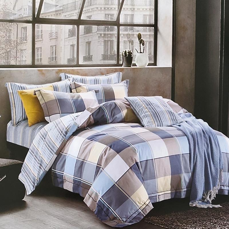 福文家纺全棉三件套学生宿舍单人件套 简约纯棉被套床单床上用品