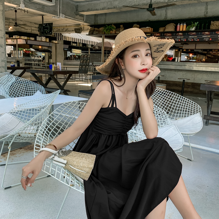 Only black solid color holiday dress