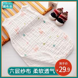宝宝薄款睡袋婴儿春夏季空调房睡带大童薄棉夏天小孩六层纱布睡衣图片