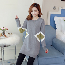 Autumn and winter: New Korean version, easy to wear, medium and long style, thin bottomed, knitwear, long sleeve, round neck, pullover, women's fashion