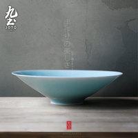 Девять глиняных ведерок с большой зеленой глазурью ручная работа тонкий шина Цзиндэчжэнь посуда Японская чаша для чая чаша винтаж посуда