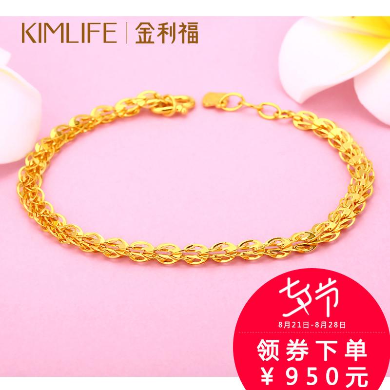 Кинли благословение золото браслет классическая хвост феникса цепь 999 чистое золото браслет браслет ювелирные изделия ювелирные изделия женские модели танабата подарок