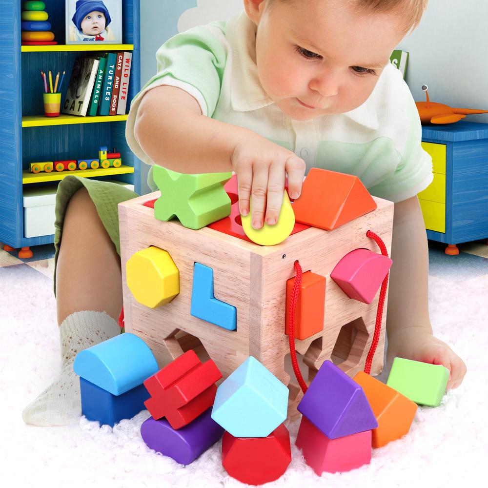 Ребенок форма пара строительные блоки игрушка 1-2-3 полный год годовалый половина ребенок интеллект мальчик монгольский клан обучения в раннем возрасте головоломка