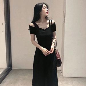 2021夏季新款v领吊带子女小连衣裙