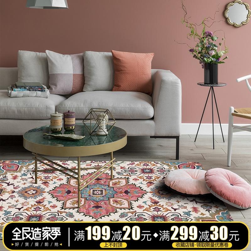 79.00元包邮楼兰美惠北欧美式几何kilim地毯