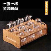 家用水晶玻璃烈酒杯一口杯高脚杯白酒分酒器酒壶酒杯一壶一杯套装