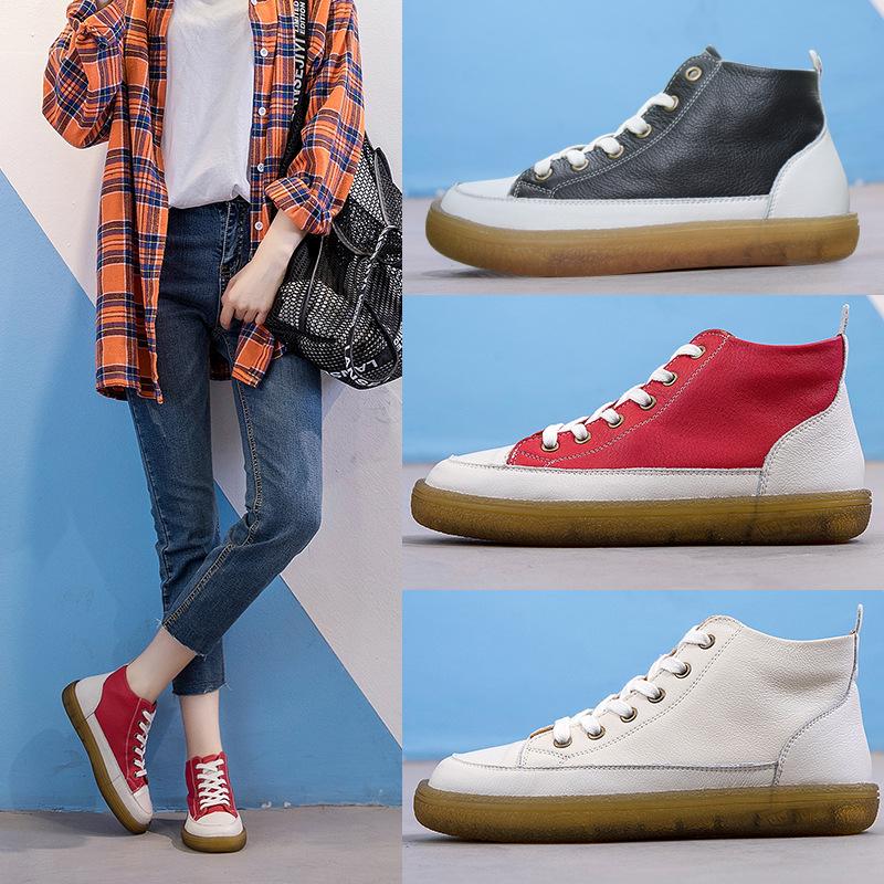 大码女鞋41-43 英伦风厚底马丁靴女 高帮透气网红大码短靴女