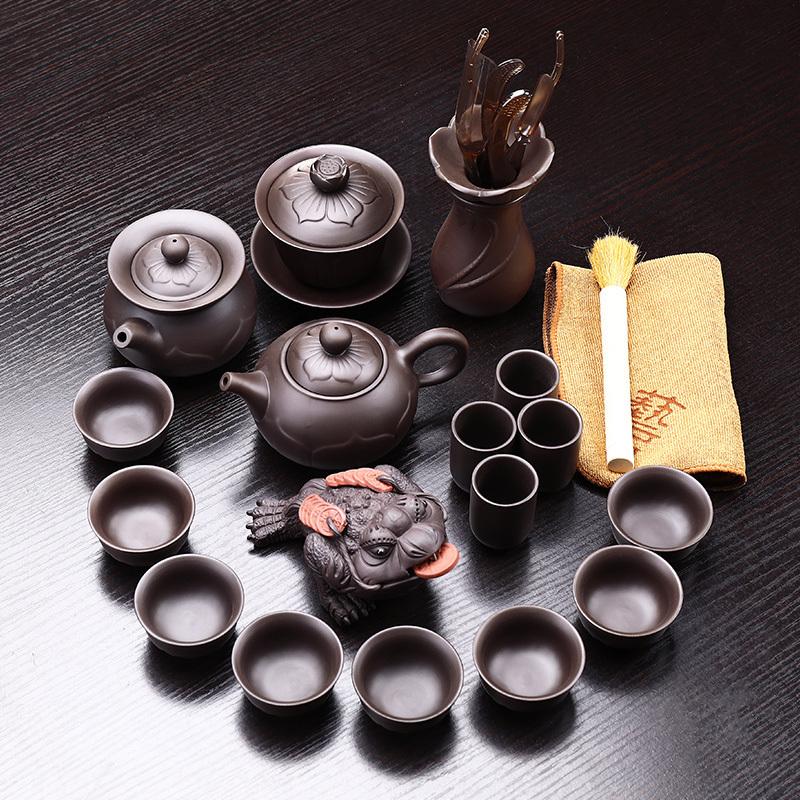 领艺紫砂功夫茶具套装家用陶瓷泡茶器整套茶壶盖碗茶杯茶道茶宠