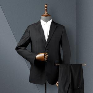 西服套装 华萨驰男装春秋新款男商务西服正装上班新郎伴郎西装