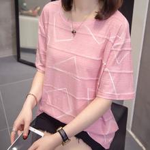大码遮肚上衣女2021夏装新款胖妹妹显瘦减龄宽松时尚纯棉短袖t恤