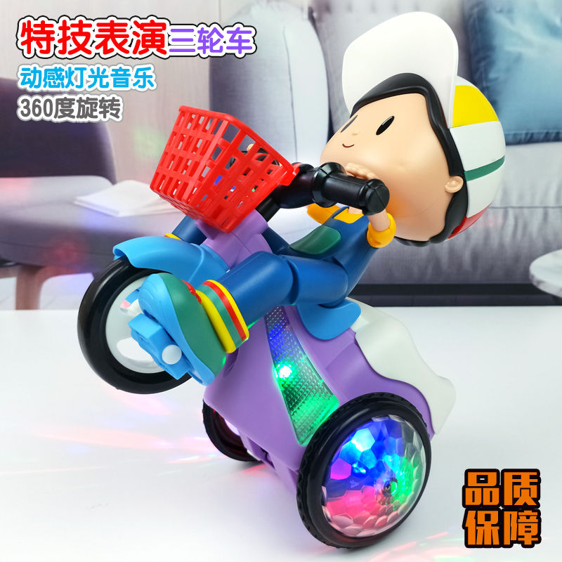 Dancing toys electric children boys and girls stunt dance music big head boy tricycle charging