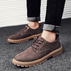 2020夏季新款男靴子低帮百搭马丁鞋男士马丁靴男潮靴英伦工装短靴图片