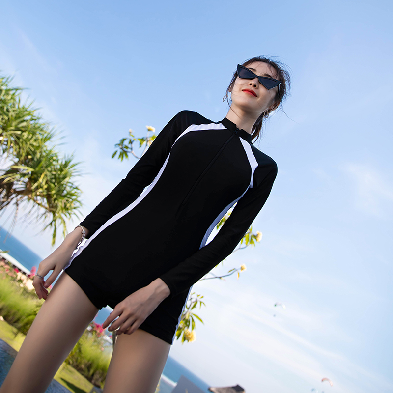 Victorias Sexy Secret Long Sleeve one piece swimsuit for women with flat angle bikini for belly covering and skinny swimsuit for women