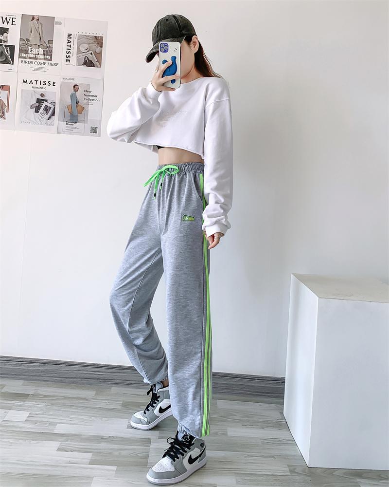 Pocket simple fashion generous loose begging commuter Harlan pants versatile student high waist solid Lolita pants