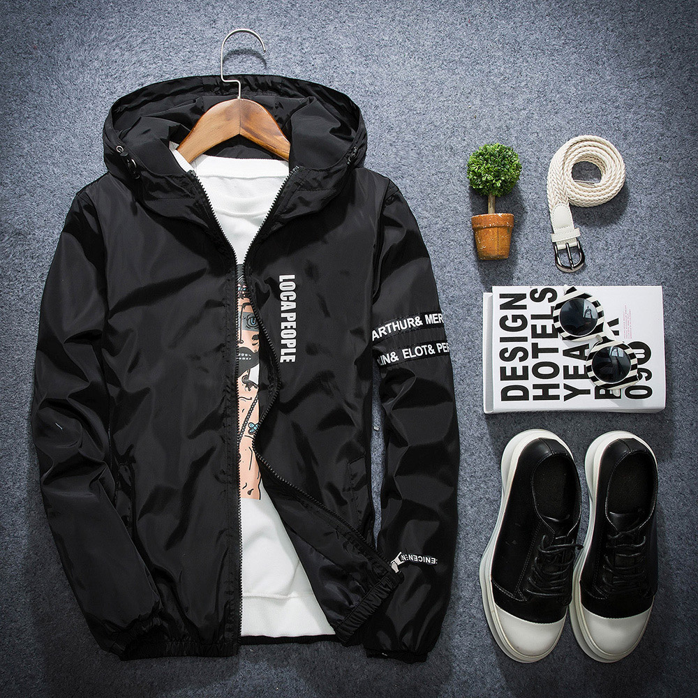 Spring and autumn new young mens jacket, Korean sports short jacket, female student slim windbreaker, couples fashion