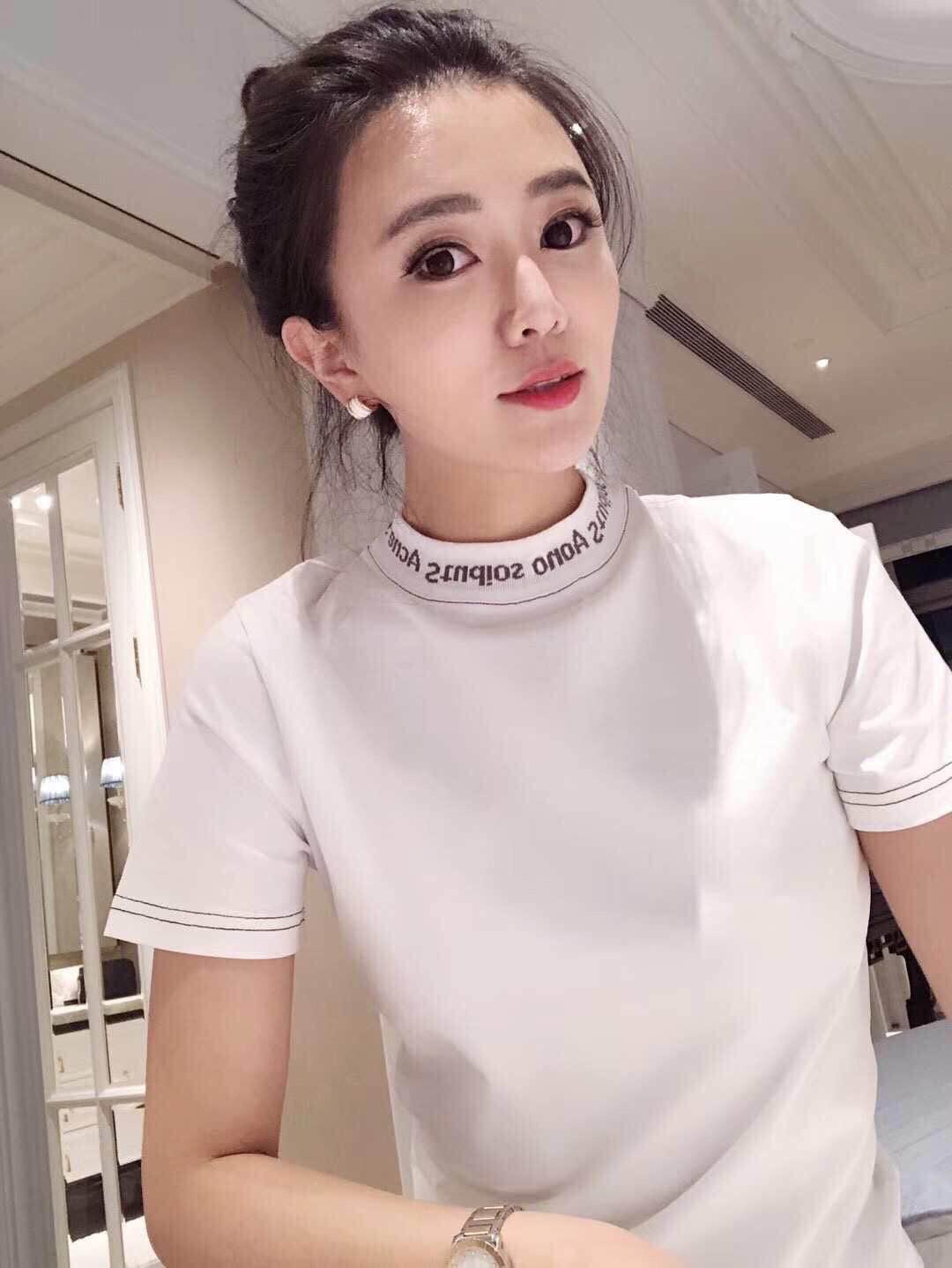 欧洲站2018夏季新款修身显瘦百搭纯棉白色短袖t恤女学生打底上衣