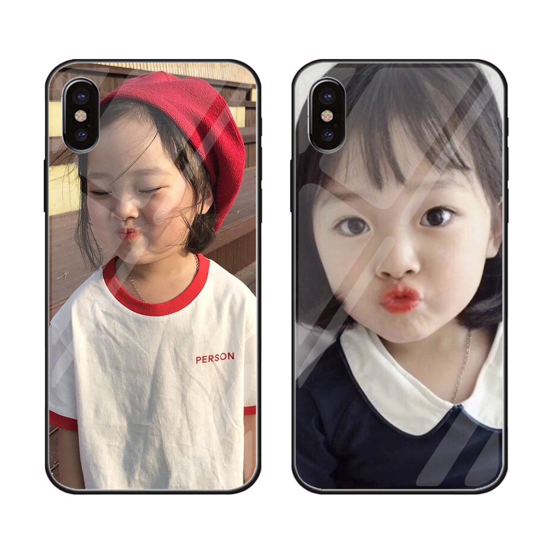 苹果6/7X韩国权律二iphone6/7/8 plus镜面玻璃8x手机壳7P钢化壳6S