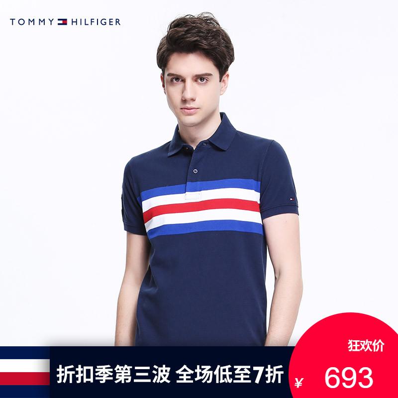 TOMMY HILFIGER男�b2018春季 �l�y短袖POLO衫-MW0MW06583OP
