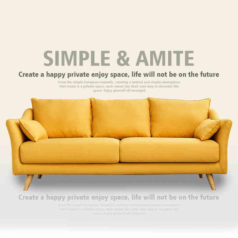 北欧現代簡単客間の寝室の店の小さい部屋型の日本式のシングルは2人で3人そろって布芸のソファーを取り壊し洗います。