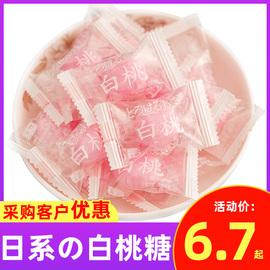 日系の白桃果汁硬糖2500g喜糖批发散装酒店4S招待糖果葡萄味零食图片