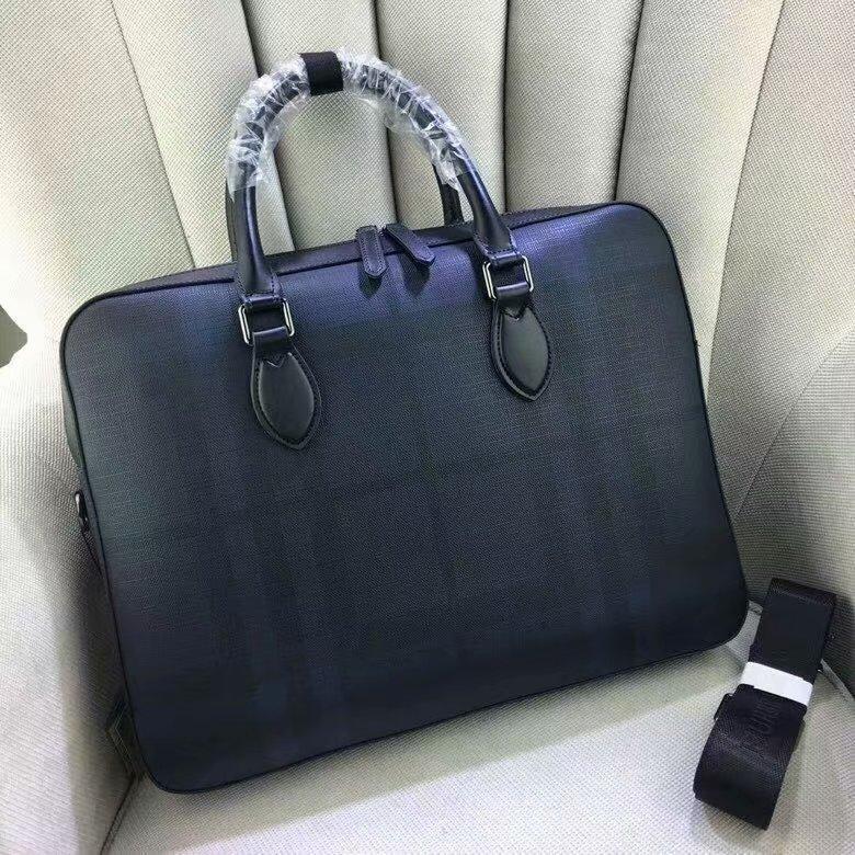 2020 new mens Plaid handbag Single Shoulder Messenger business briefcase leather PVC
