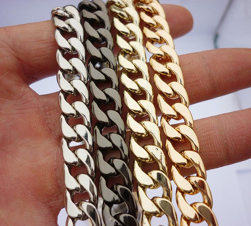 Полноценный пакет пакет цепь аксессуары цепь металлические цепи статья для женщин мешки лента диагональ плечо портативный плоский цепь одноместный купить