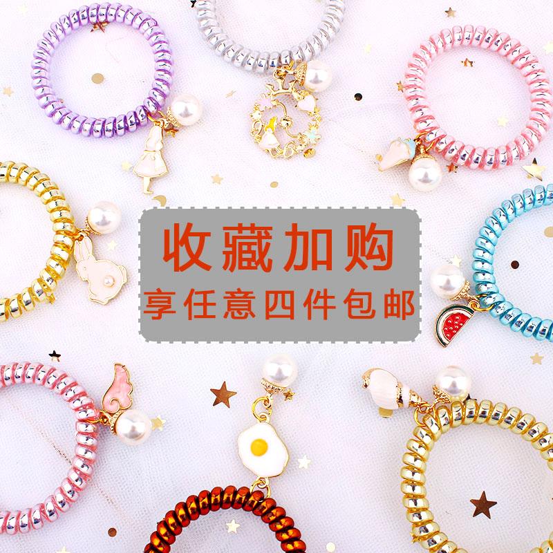 Can be used as a Bracelet ~ cute tie hair rubber band headband telephone line hairband womens small hairband Headband