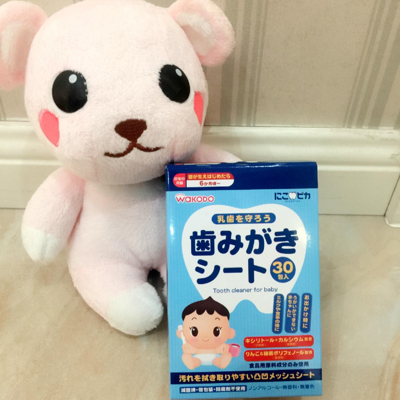 [ сейчас в надичии ] бесплатная доставка ! япония спокойный свет зал ребенок чистый зуб салфетки / ребенок чистый зуб полотенце / вытирать зуб полотенце 30 пакет