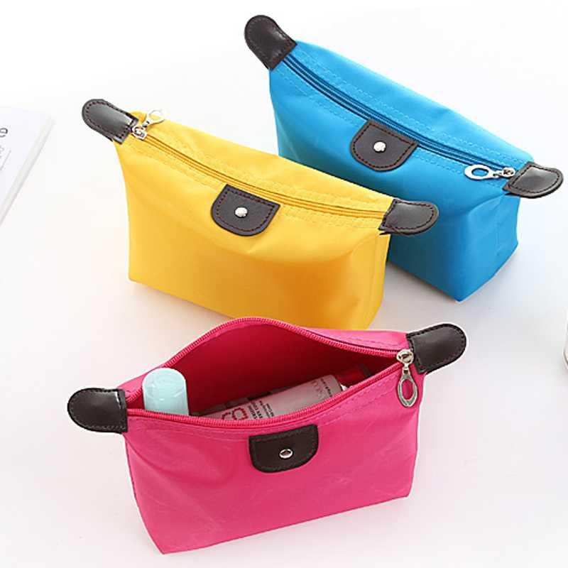 【化妆品收纳包】简约化妆包随身便携小号大容量口红洗漱收纳袋