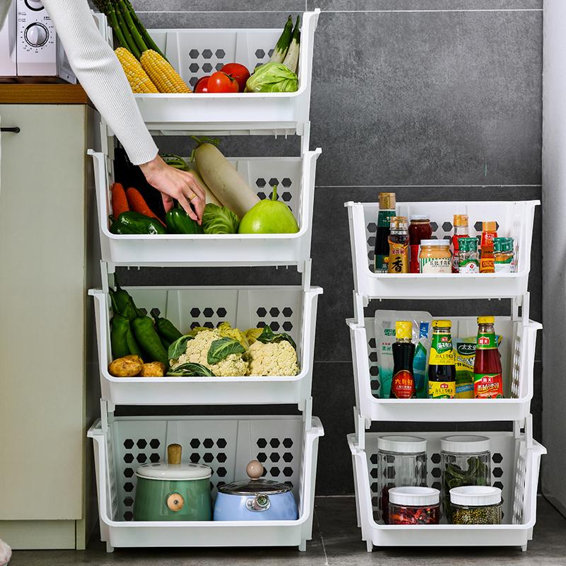 厨房蔬菜落地多层放果蔬玩具收纳架