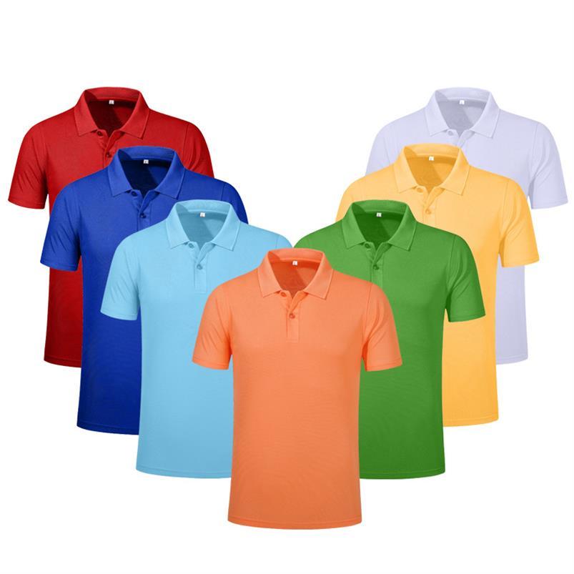 男装短袖T恤同学聚会翻领衣服广告POLO衫休闲工作服印字logo定做