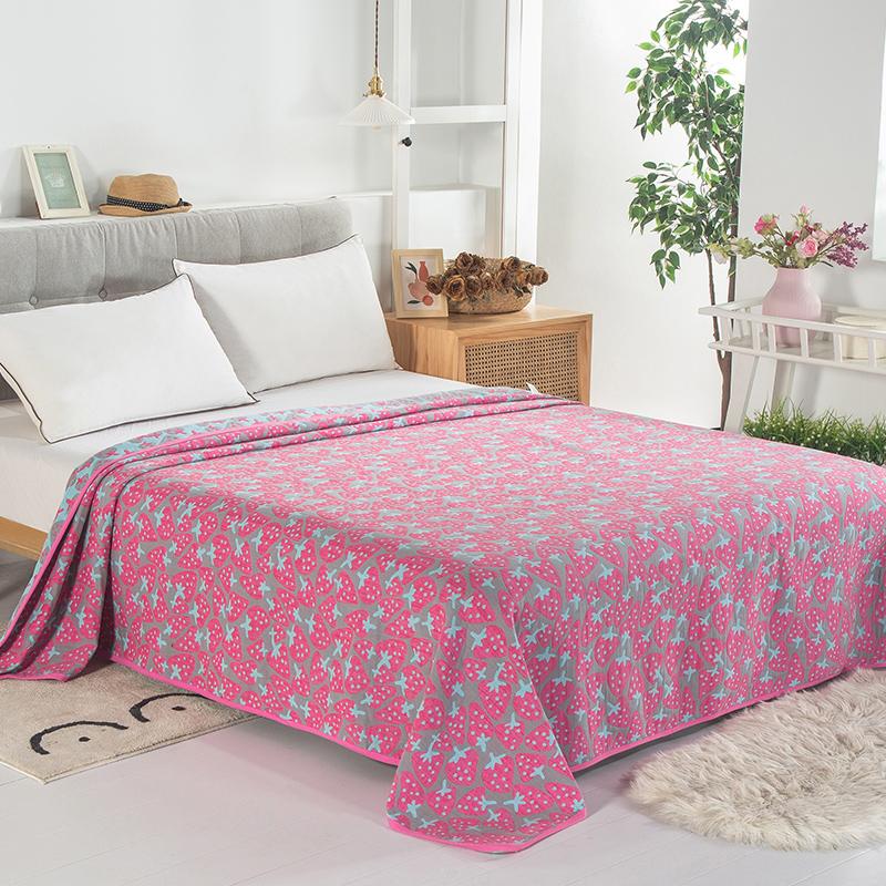 毛巾被纯棉双人单人三层纱布儿童盖毯子夏季办公室空调毯午睡毯