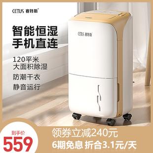 赛特斯除湿机家用卧室小型除湿器大功率室内干燥机空气除潮抽湿机