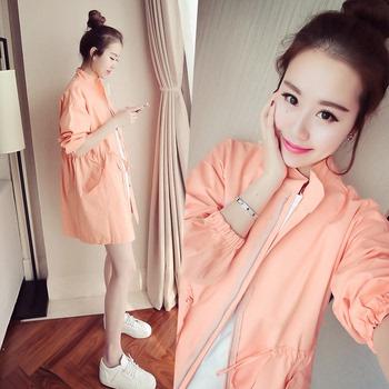 孕妇春秋季外穿韩版中长款秋装风衣