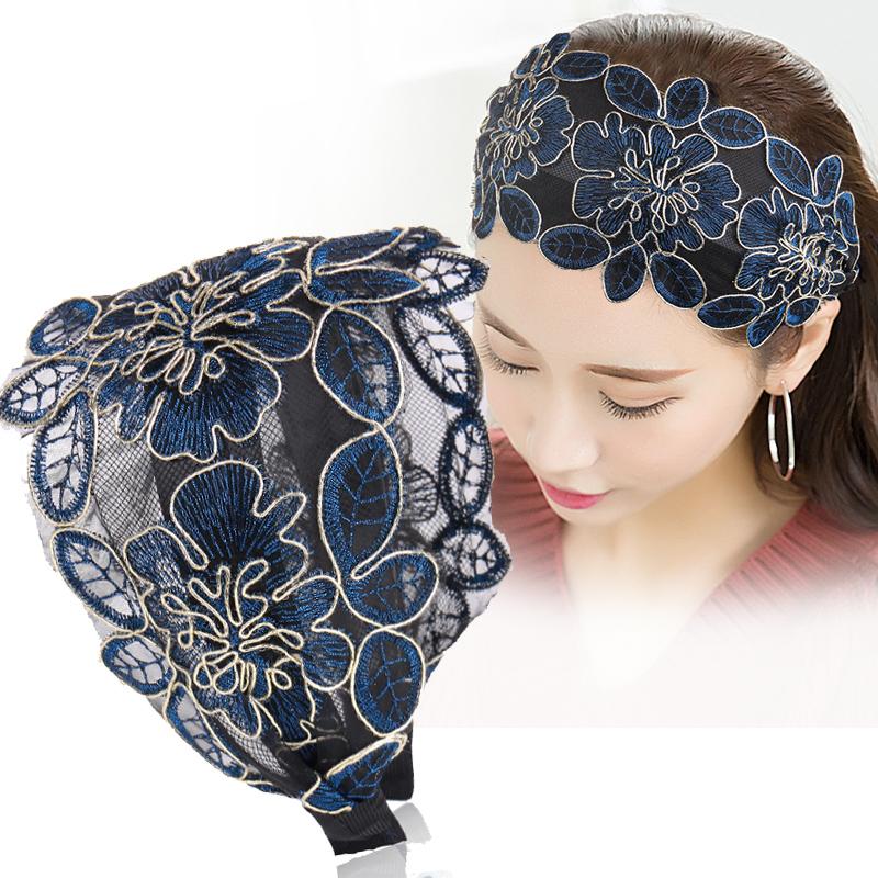 遮白发韩国宽边蕾丝显脸小的发箍