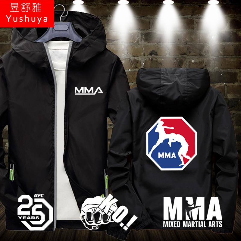 综合格斗MMA健身拳击散打武术UFC运动开衫外套男女拉链夹克薄衣服,可领取2元天猫优惠券
