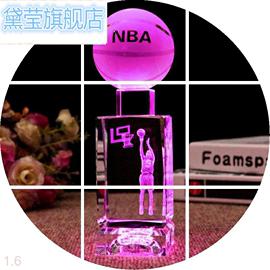 定制水晶篮球模型创意汽车内办公室客厅酒柜家居装饰品小摆件
