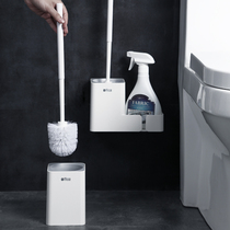 Toilet Brush Toilet Brush home No dead angle toilet brush rack new clean toilet scrubbing toilet set wall-mounted type