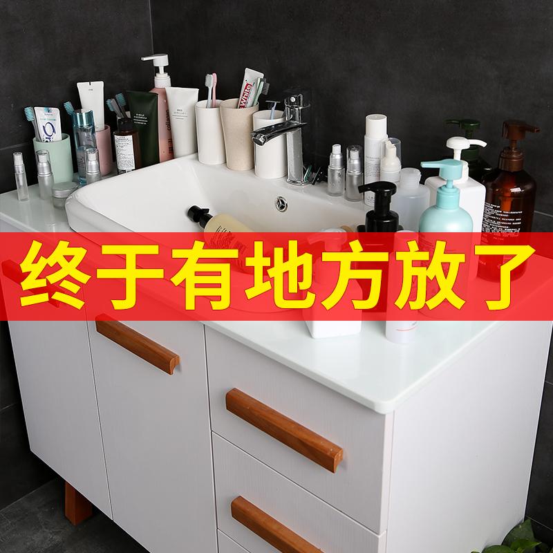 卫生间置物架洗漱台收纳盒免打孔洗手间壁挂式浴室吸盘式吸壁厕所