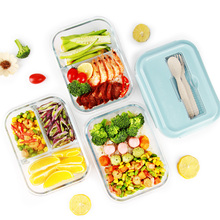 Create office workers glass lunch box microwave special bowl female separation fresh seal lunch box with cover