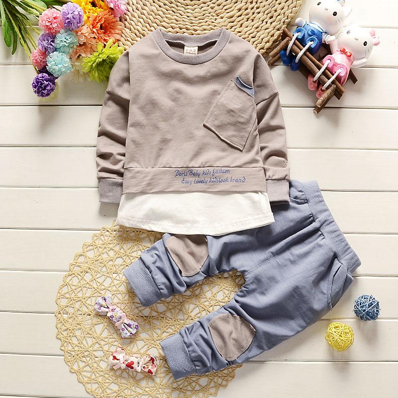 宝宝秋装套装帅气男童装春秋季薄款运动套装婴幼儿童衣服两件套潮