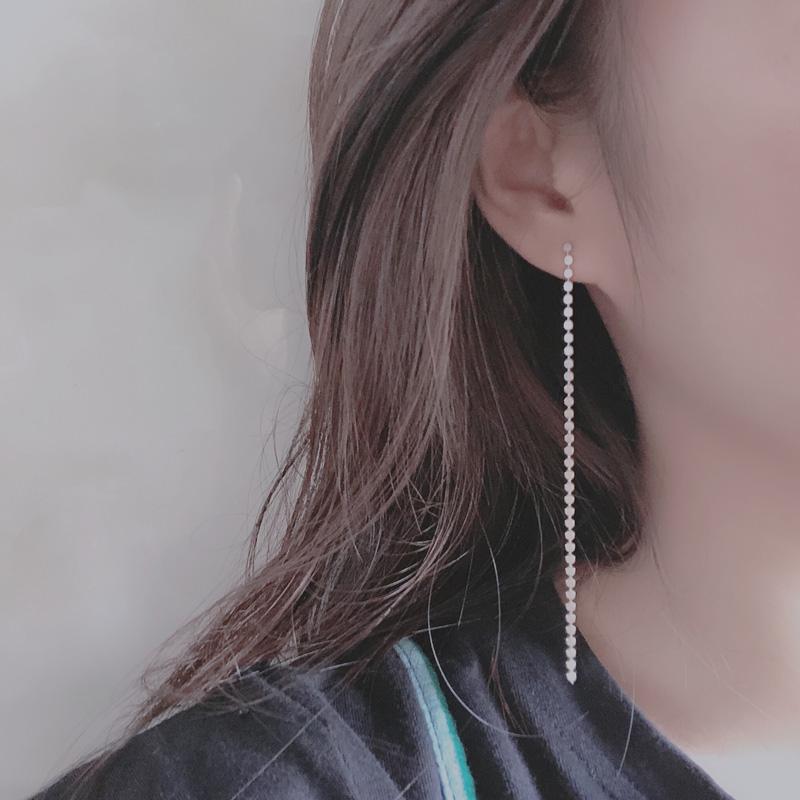 Round face suitable Korean chain ear line tassel versatile simple Earrings temperament super long earrings 2021 new fashion