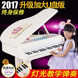 鑫乐儿童大电子琴女孩大钢琴麦克风玩具可充电小孩音乐琴6岁-12岁