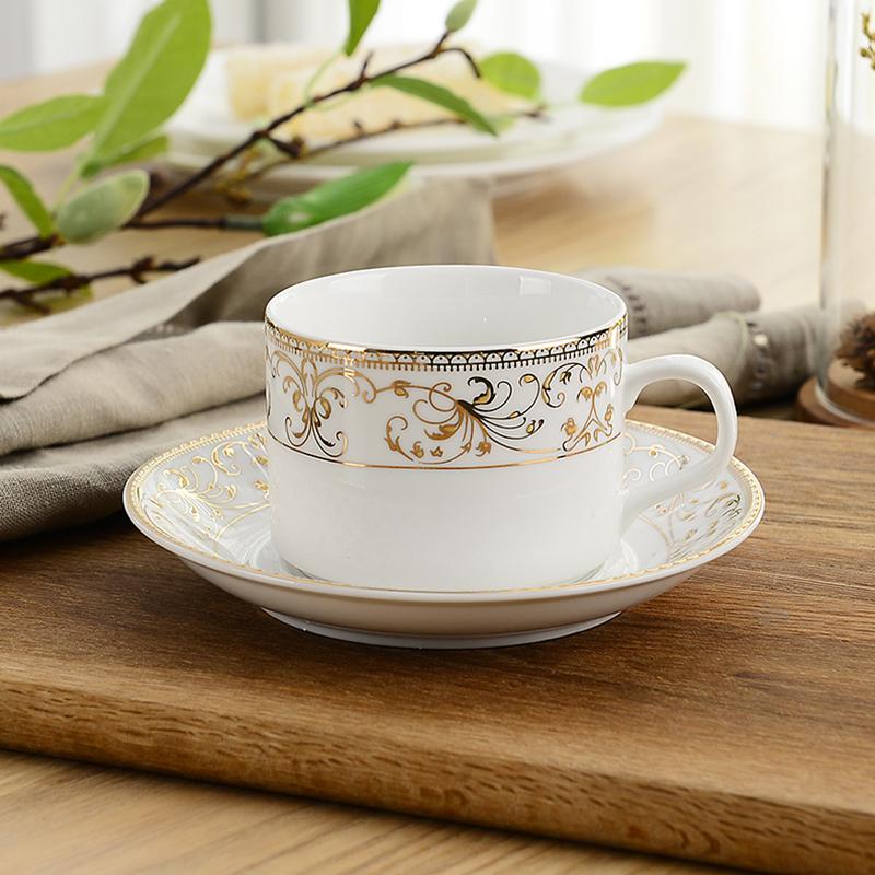 歐式陶瓷咖啡杯套裝家用金邊 簡約 水杯套具下午茶茶具英式