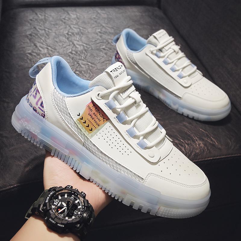 男鞋2021年新款潮鞋子男夏季透气薄款莆田运动鞋男士空军一号板鞋