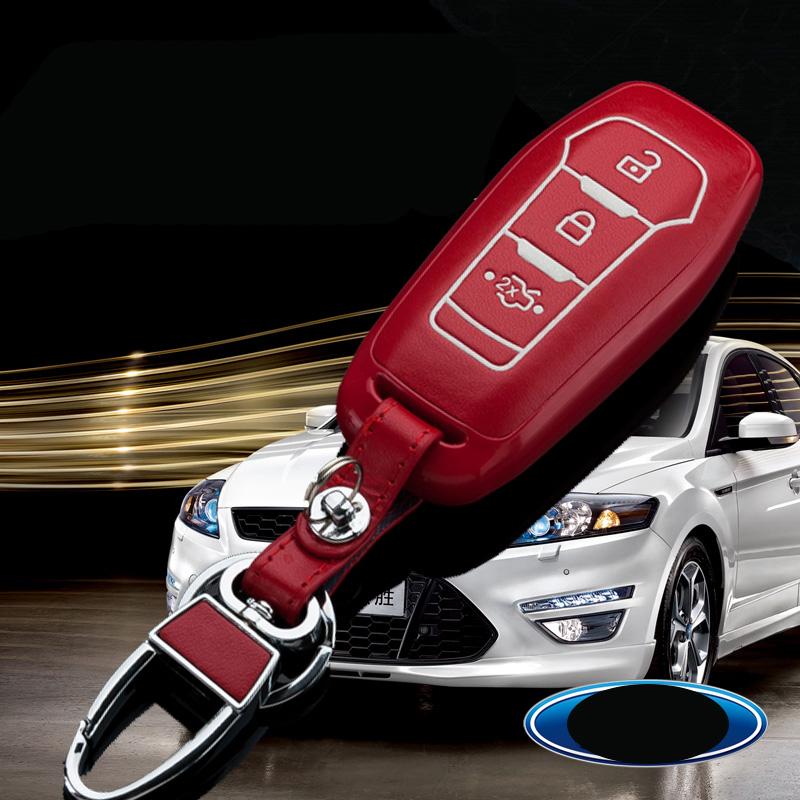 福特福睿斯新蒙迪歐鑰匙包 新福克斯翼虎汽車改裝鑰匙殼套 男女