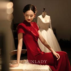 名斓旗袍2020新款中国风新娘敬酒服