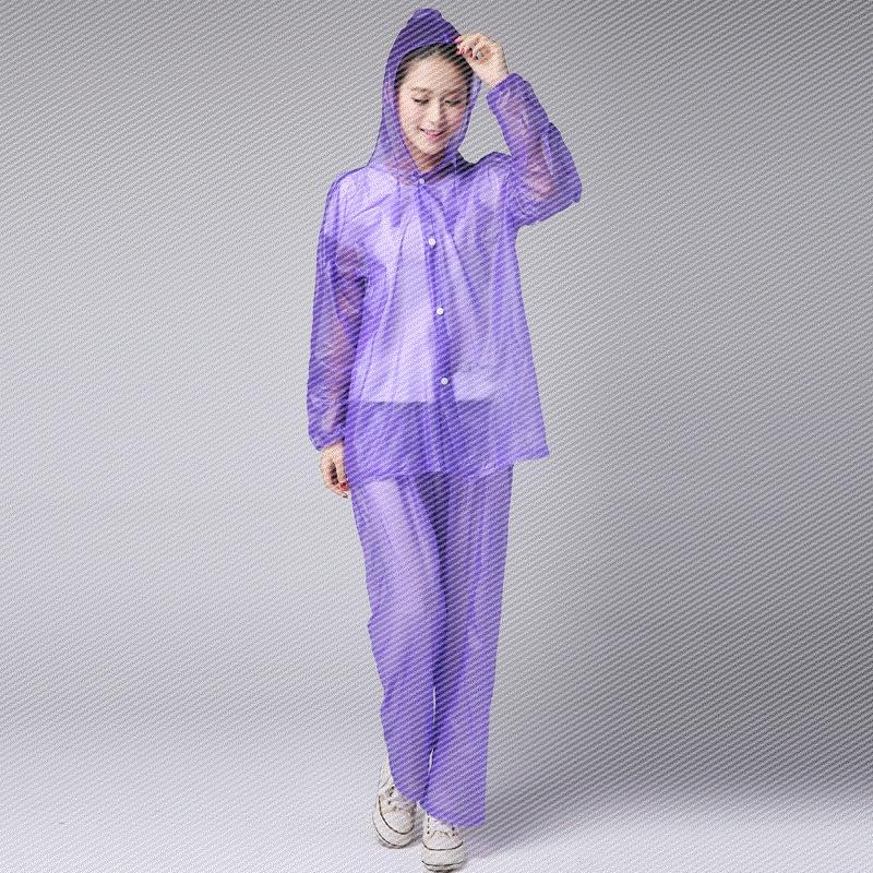 夏季透明雨衣雨裤套装分体防水全身薄款骑行透气韩国复古成人男女