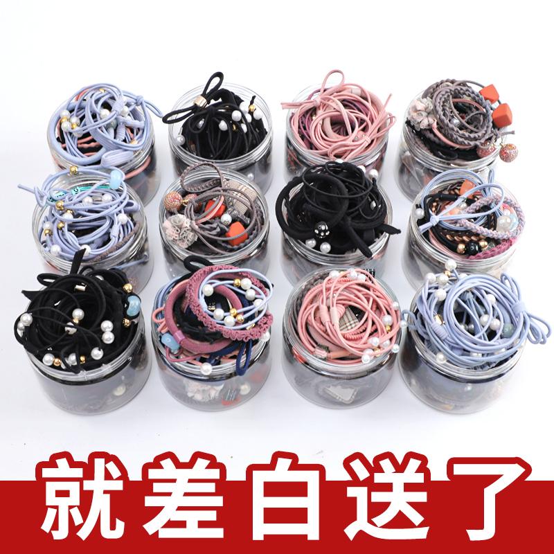 头绳少女橡皮筋网红ins韩国可爱绑头发发圈成人扎头森系皮套发绳