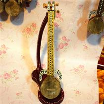 新疆民族手工乐器工艺品维吾尔族乐器舞台40厘米热瓦普装饰品摆件